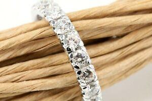 Memory Ring 750 Diamant 18K Weißgold 20 Brillanten 2,36ct VS1-SI1 H Größe 56