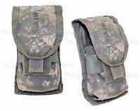 SET OF 2 - US Army ACU DOUBLE MAG POUCH Ammo Magazine Utility MOLLE USGI VGC