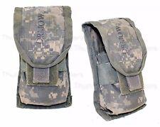SET OF 2 - US Army ACU DOUBLE MAG POUCH Ammo Magazine Utility MOLLE USGI 5.56 GC