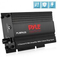 Pyle PLMPA35 2 Channel Car Amplifier 300 Watt Mini Amp w/3.5mm Input