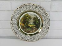 """Vintage Ascot Service Plate by Wood & Sons England Sheep Farming Scene 10 1/2"""""""