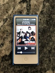 Apple iPod Nano A1446 7th Generation Blue 16GB iPod