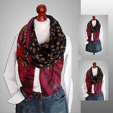Schal Tuch Scarf Stola Plaid Blogger Loop grau leopard floral XXL Trend ** NEU