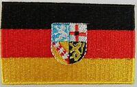 Saarland Aufnäher gestickt,Flagge Fahne,Patch,Aufbügler,6,5cm,neu