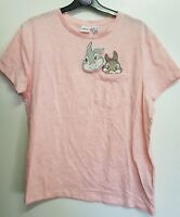 Disney Thumper Pocket Top Pink Short Sleeve Tshirt Women's Ladies Primark