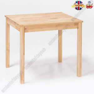 Dining Table Solid Beech Heartwood Oiled Beech Wood 70x50cm Natural Rustic New