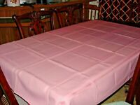 Vintage Pink Tablecloth with set of 4 Napkins