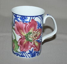 Julie Naylor Mug Royal Doulton Red Hibiscus Expressions Blue China Floral Flower