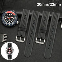 20mm/22mm Rubber Waffle Watch Strap Soft Band Divers Watch