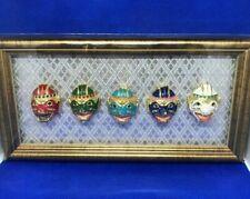 Thai Khon Hanuman Ramakien Home Decor Hanging Frame Gold Thai Mask