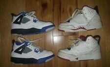 LOT 2 Air Jordan Retro 4 youth GS 408452-117 Royals Motorsport 11C Son of Mars