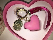 LADUREE Multi Colored PINK HEART MACARON Sparkly Key Chain PARIS FRANCE NIB