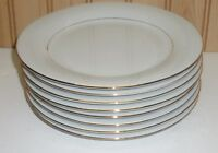 "Sakura CLASSIC GOLD 1996 China 7 1/2"" Salad Plates Gold Trim, Pinstripe Set of 8"