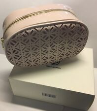 TORY BURCH LIMITED EDITION BLUSH / PINK LACED MAKEUP BAG COSMETIC CASE NEW