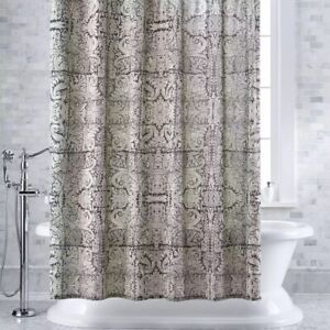 Crate & Barrel Linley Charcoal Shower Curtain 72x72 - NWT