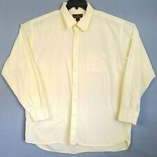 Steve & Barry's Mens Shirt XXL 18-18 1/2 Yellow Long Sleeve Button Front Cotton