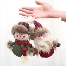 Adornos navideños Linda bienvenida Santa muñeco de nieve colgante decorac Ew