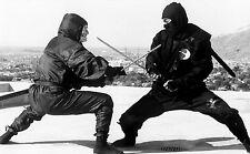 Framed Print - Two Ninja Samurai Sword Fighting (Picture Poster Battle MMA Art)