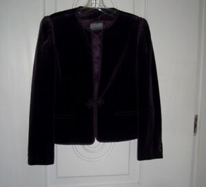 Women's Stirling Cooper Purple Skirt & Blazer Suit/Lined/Long Sleeves(Size 9/10)