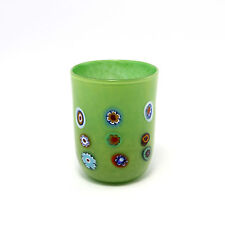 Bicchiere Murrine glasses Millefiori Thousand Flowers Murano Glass Made in Italy