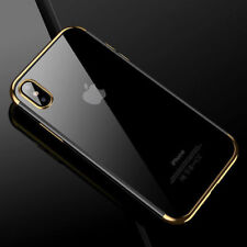 For Apple iPhone XS Max / XR X 7 Crystal Clear Plation Soft TPU Case Slim Cover