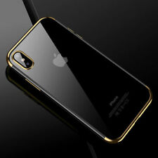 For Apple iPhone XS Max / XR X 7 Crystal Clear Plating Soft TPU Case Slim Cover