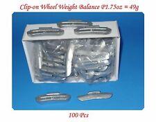 100 Pcs ZINC CLIP-ON WHEEL WEIGHT BALANCE 1.75oz 1-3/4oz P Style for Steel Wheel
