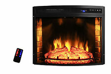 "28"" Insert Free Standing Electric Fireplace Firebox Heater 3D Flame Wood Y-06-28"