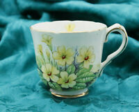 Gladstone Bone China Demitasse Cup Yellow Floral Gold Gilding NO saucer