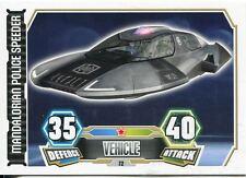 Star Wars Force Attax Series 3 Card #72 Mandalorian Police Shuttle