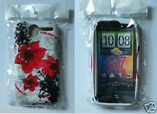 White Red HTC Desire Flower Soft Solid TPU Silicone Printed for G7 Case Cover UK