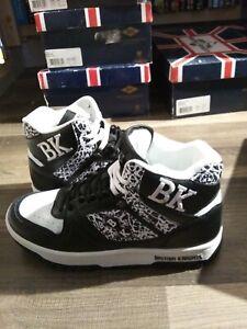 BRAND NEW British Knights BK Retro Kings SL Mens Sneakers Black /White Size 8
