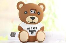 3D Bär Bear Samsung GALAXY S6 Silikon Case Hülle Schutzhülle Tasche Backcover