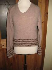 Waist Length Wool None Striped Jumpers & Cardigans for Women
