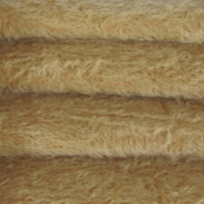 """1/6 yd 300S/C Tan INTERCAL 1/2"""" Ultra-Sparse Curly S-Finish Mohair Fur Fabric"""