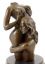 Erotischer Frauentorso - Die Umarmung - Echte Bronze - signiert M. Nick