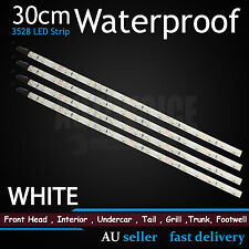 6x White 30cm 3528 18-SMD Adhesive LED Strip Light Car Caravan Boat Waterproof