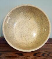 "Antique Yellowware & BlueSpongeware Stoneware/Earthenware Large Mixing Bowl 10"""