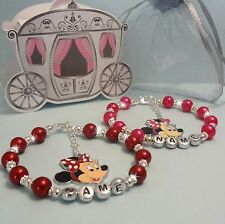 De Chica Brazalete Personalizado Minnie Mouse / Hello Kitty
