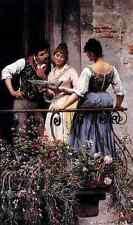 Blaas Eugene De On The Balcony A4 Print