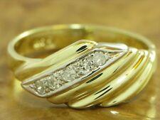 14kt 585 GOLD GELBGOLD RING MIT 0,10ct. DIAMANT BESATZ DIAMANTRING GOLDRING