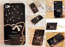 iPhone 4/4S Hard Case Schutzhülle hülle mit Strass handgemacht Kunststoff Neu