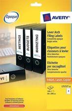 Avery  Laser Filing Elasticated Files 4 Labels Per Sheet 25 Pack L7171