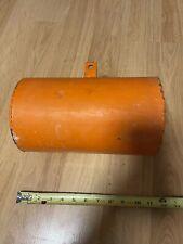 vintage Small metal buoy/Nautical marine decor/Orange Canister