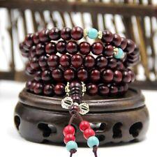 Wood 108 Prayer Beads Tibet Buddhist Mala Necklace
