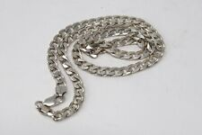 A Heavy Vintage Sterling Silver 925 Designer Curb Link Chain Necklace 34g