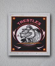"TRESTLES Surfer Surfing Stickers Decals 2""x2"" Epic Surf Breaks California"