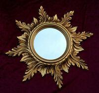 Espejo de Pared Barroco ORO SOL 50cm MACIZO baño SUN c495