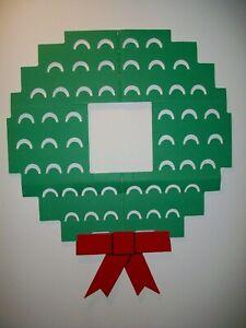 Vintage 1987 Wonder Wreath Cardboard Christmas Card Holder Festive Bow