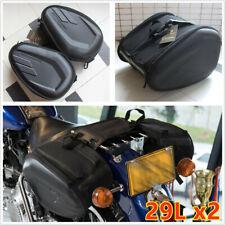 1Pair Universal  Motorcycle 58L Saddle Bags Luggage Case Tail Saddlebag Trim